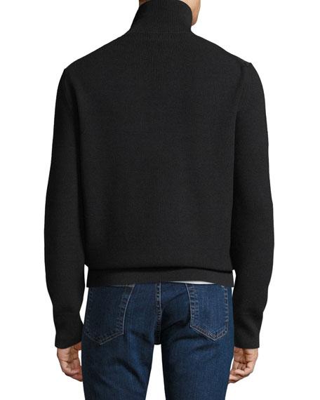 Men's Suede Zip-Front Blouson Jacket