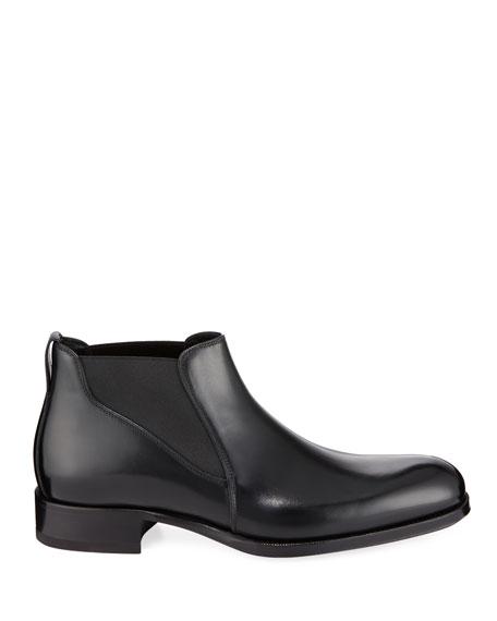 Men's Edgar Low Leather Chelsea Boots
