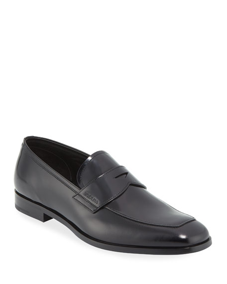 9211a57760e Prada Men s Spazzolato Leather Penny Loafer