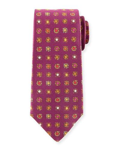 Circle in Box Silk Tie