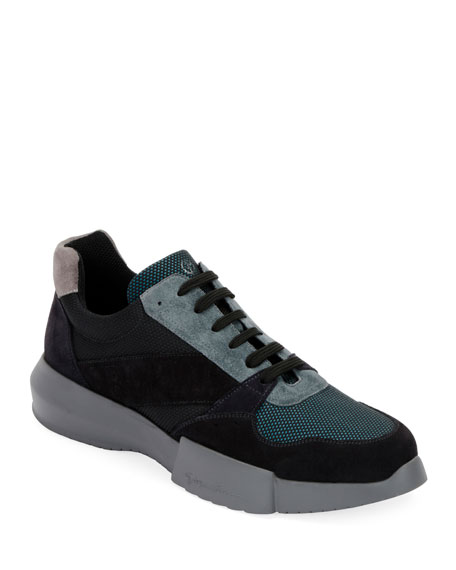 Giorgio Armani Men's Leather & Mesh Training Sneakers