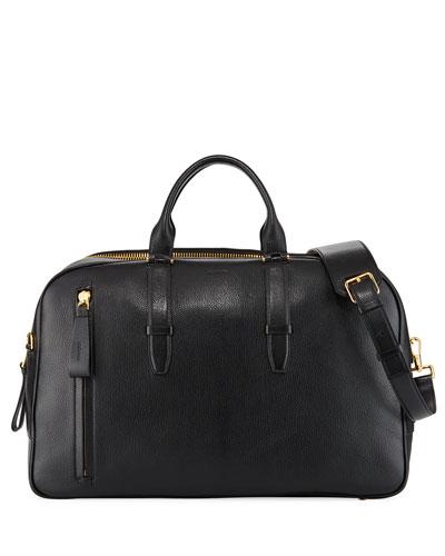 Men's Leather Duffel Weekender Bag
