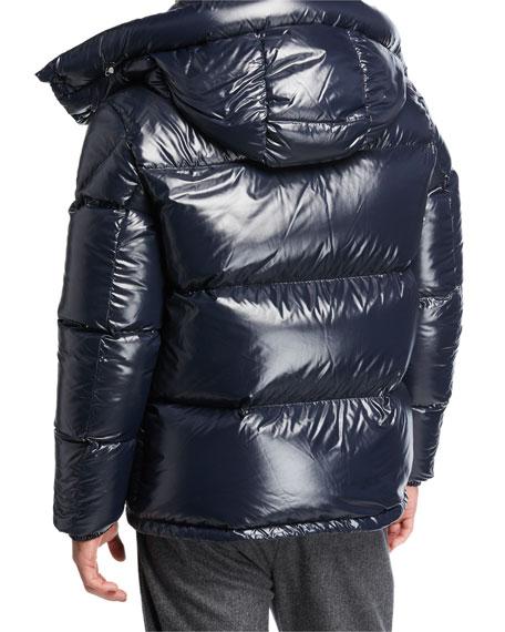 655451a45f8d Moncler Men s Montbeliard Shiny Puffer Jacket