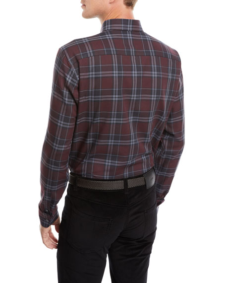 Men's Plaid Cotton Shirt
