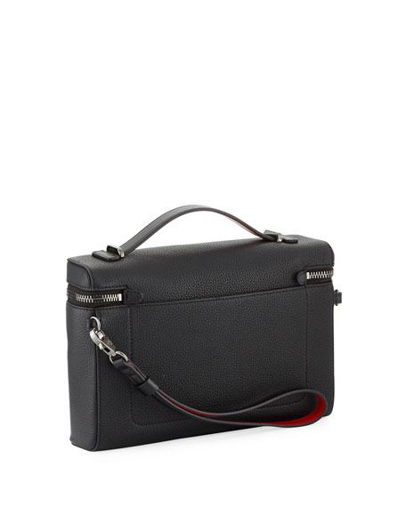 Men's Leather Zip-Around Pouch