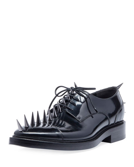 Balenciaga Men's Spiked Lace-Up Derby