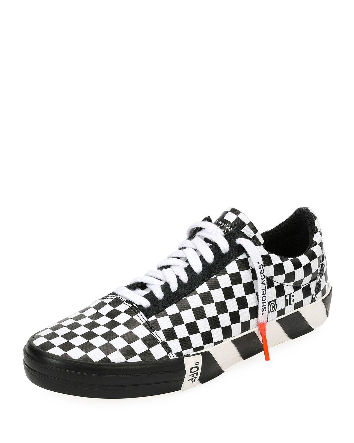 Off-White Men's Vulc Checkered Low-Top