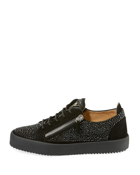 44b274151a74d Giuseppe Zanotti Men's Crystal-Embellished Double-Zip Leather Low ...