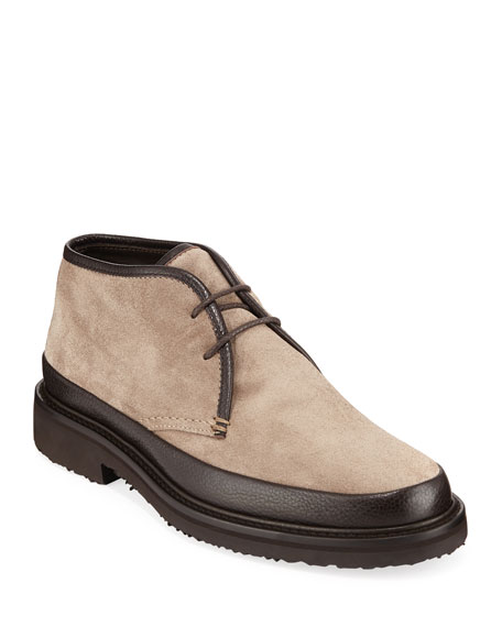4613774e Men's Trivero Suede & Leather Chukka Boots