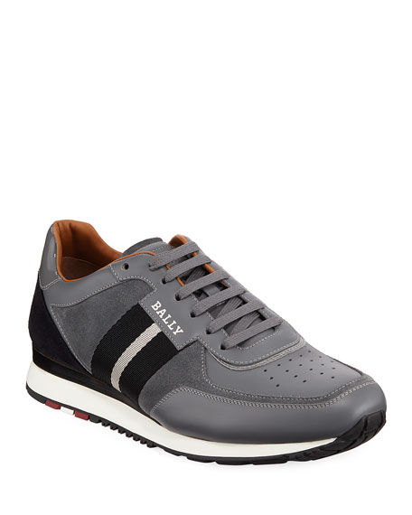 Bally Men's Aston New5 Leather Sneakers w/ Trainspotting