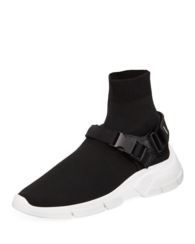 Men's Buckle Sock Boot Sneakers