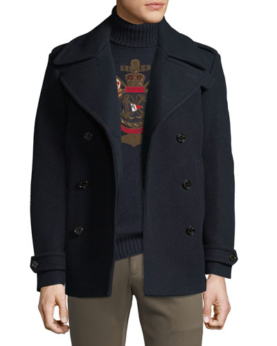 Men's Wool/Cashmere Pea Coat