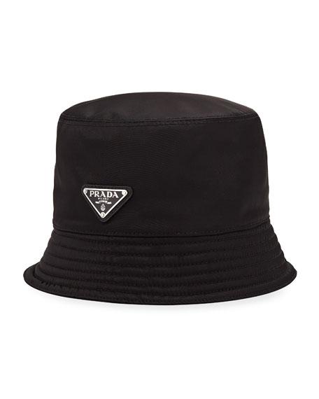 Men's Nylon Bucket Hat with Logo