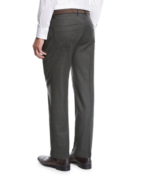 Men's Moss Five-Pocket Flannel Dress Pants