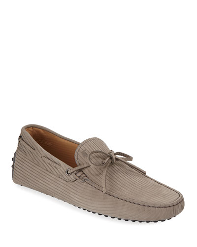 c0e95f962a1 Men s Leather Penny Loafers.  495 · Promotion Men s Textured Nubuck Gommini  Drivers Gray