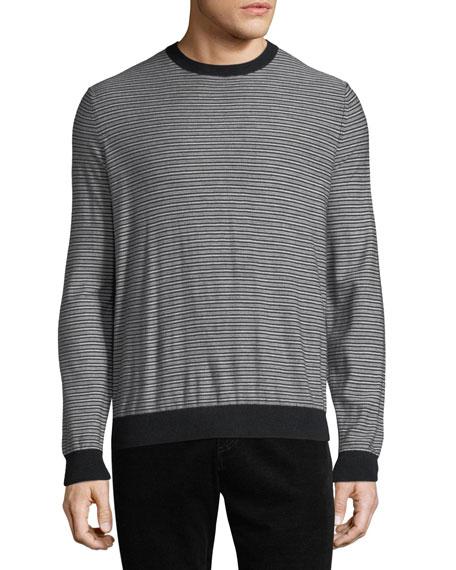 Men's Striped Wool-Cashmere Sweater