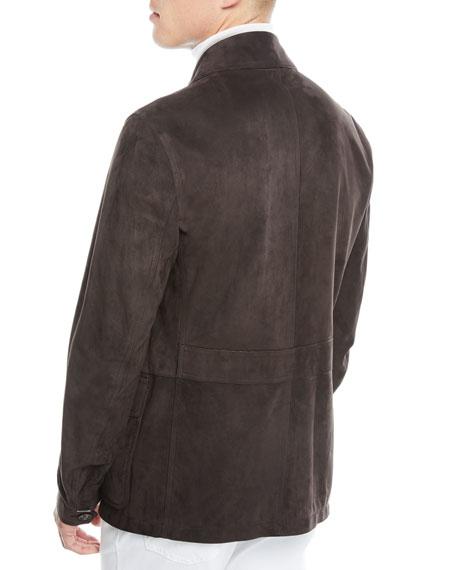Men's Suede Zip-Front Field Jacket