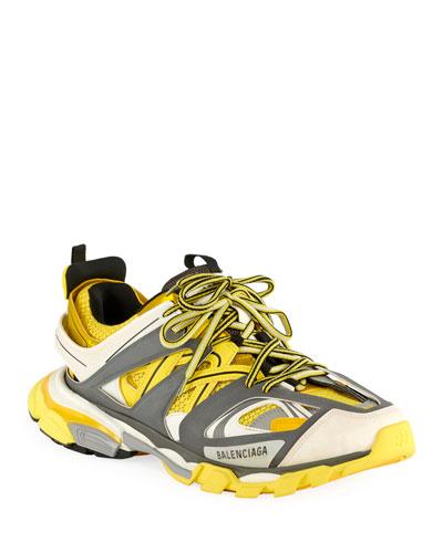 Men's Runway Track Sneakers  Yellow