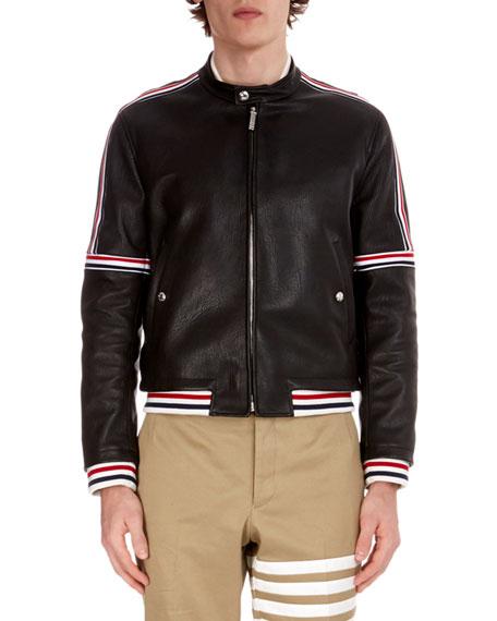Men's Buffalo Leather Cropped Jacket