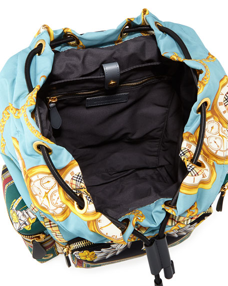 Men's Archive Scarf-Print Rucksack Backpack