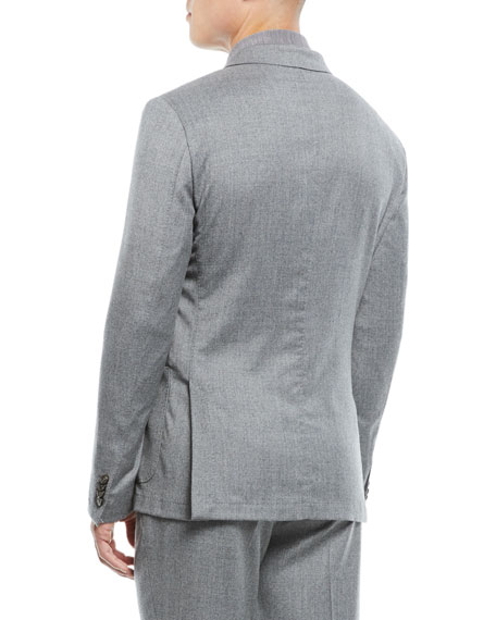 Men's Wash-and-Go Flannel Two-Piece Suit