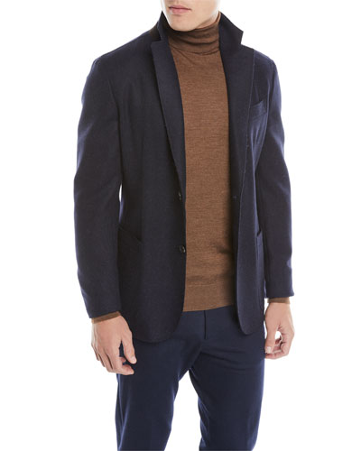 Men's Tweed Slim-Fit Sport Jacket