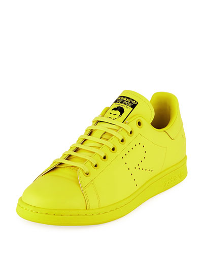 Men's Stan Smith Leather Low-Top Sneakers  Yellow
