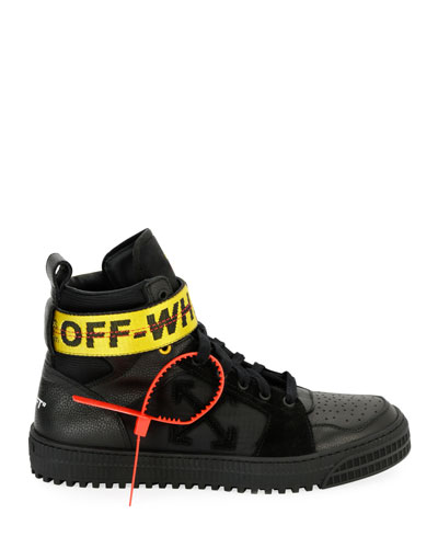 Men's Industrial High-Top Sneakers, Black