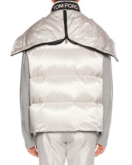 Men's Zip-Front Hooded Puffer Vest