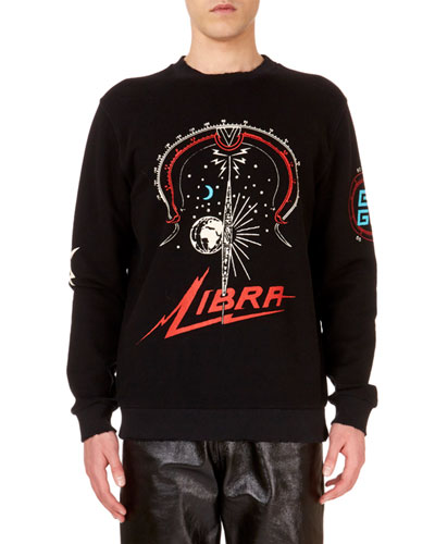 Men's Libra-Zodiac Crewneck Graphic Sweatshirt