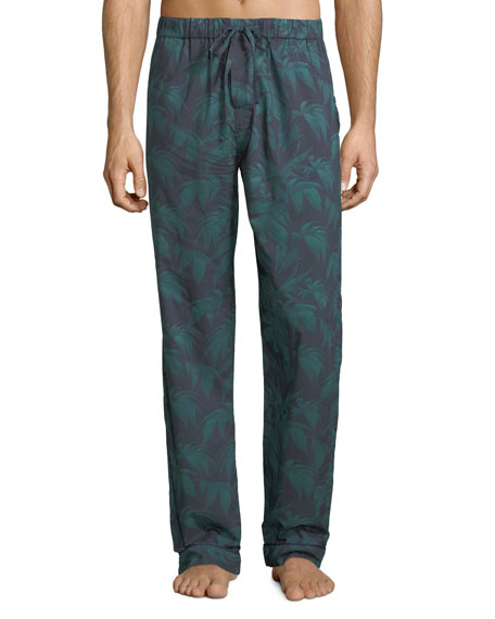 Desmond & Dempsey Men's Byron Palm Leaf-Print Lounge