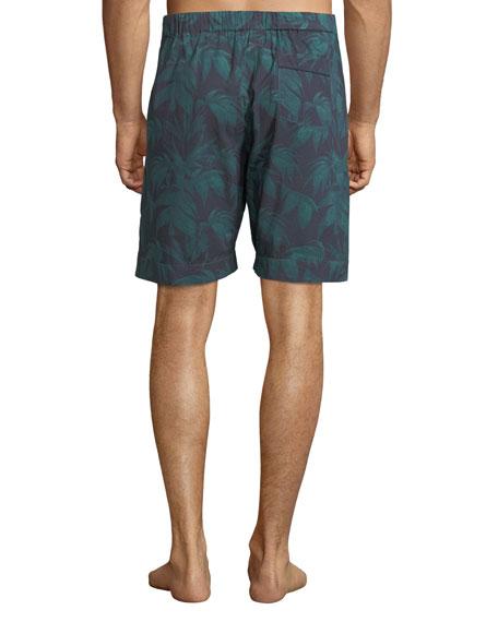 Men's Byron Palm Leaf-Print Lounge Shorts