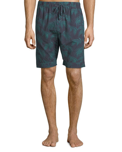 Men's Byron Palm Leaf-Print Lounge Shorts