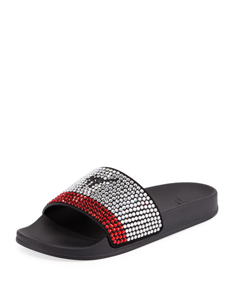 Giuseppe Zanotti Men's Crystal-Embellished Athletic Slide Sandal