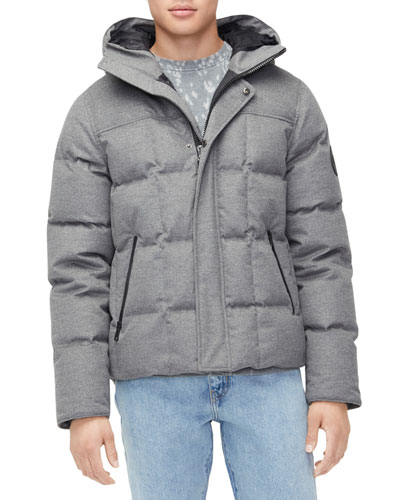 Men's Cadin Hip-Length Puffer Parka Coat