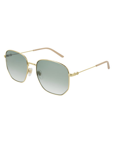 Men's Squared Gradient Sunglasses