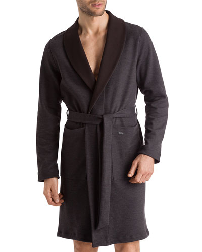 Lewin Heathered Reversible Robe