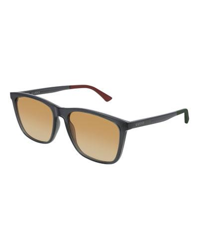 Men's GG0404S012M Injection Sunglasses - Gradient