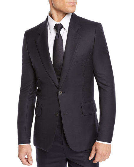 Men's David Single-Breasted Two-Piece Cashmere Suit