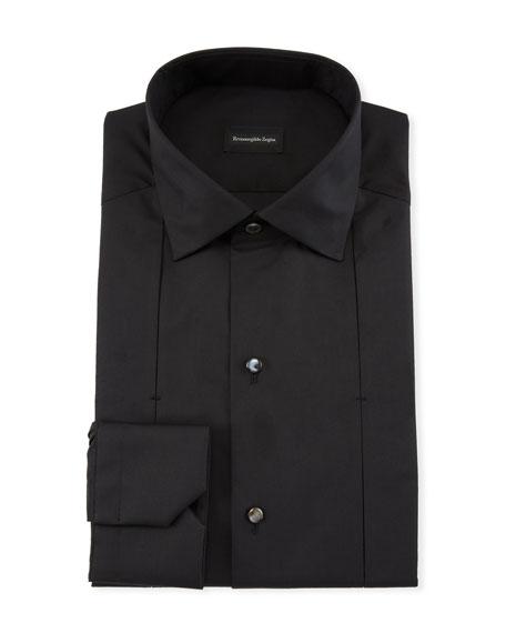 Ermenegildo Zegna Men's Cotton/Silk Diamond Formal Shirt