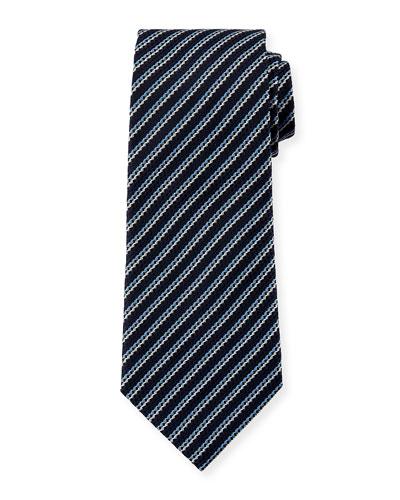 Men's Silk Narrow-Stripe Tie