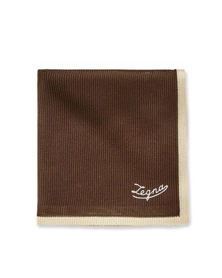 Men's Silk Tipping Pocket Square