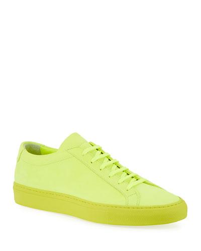 Men's Achilles Low Fluo Low-Top Sneakers