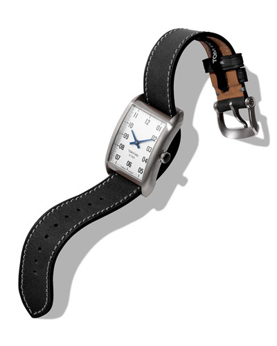 Men's 40x27  Calf-Leather Medium Watch  White/Black