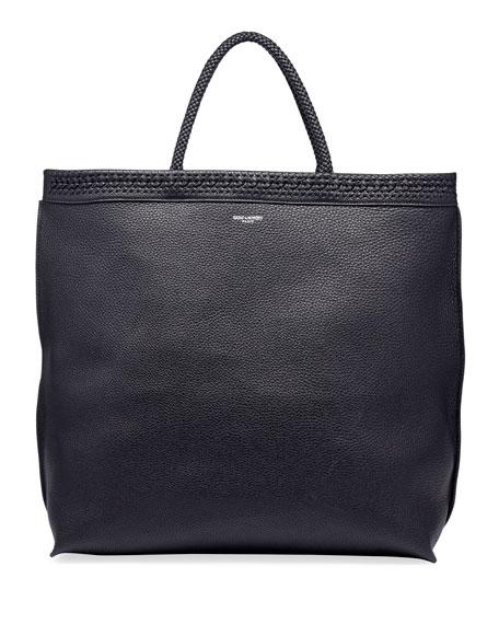 Men's YSL Leather Tote Bag