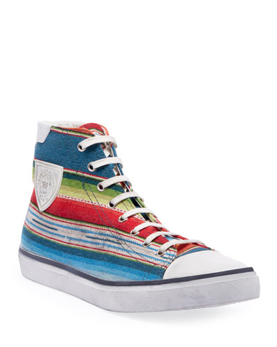 Men's Bedford Southwest Striped High-Top Sneakers
