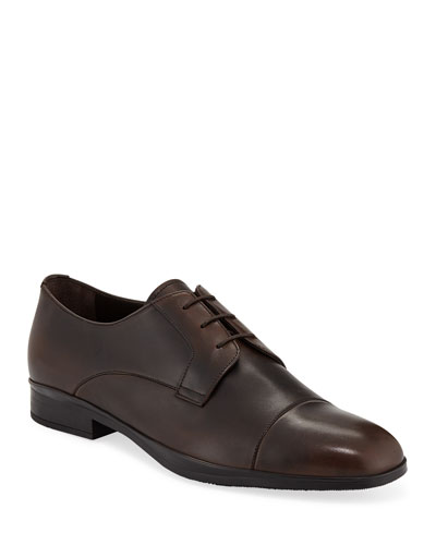 Men's Bristol Vitello Leather Lace-Up Dress Shoes