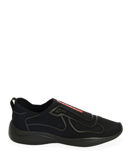 Men's Sport Knit Low-Top  Slip-On Sock Runner Shoes