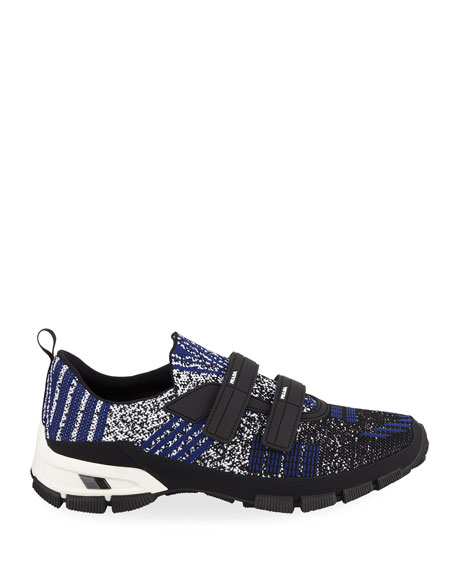 Men's Speckled Stretch-Knit Grip Sneakers