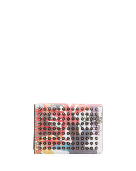 Men's Clipsos Tie-Dye Studded Card Case